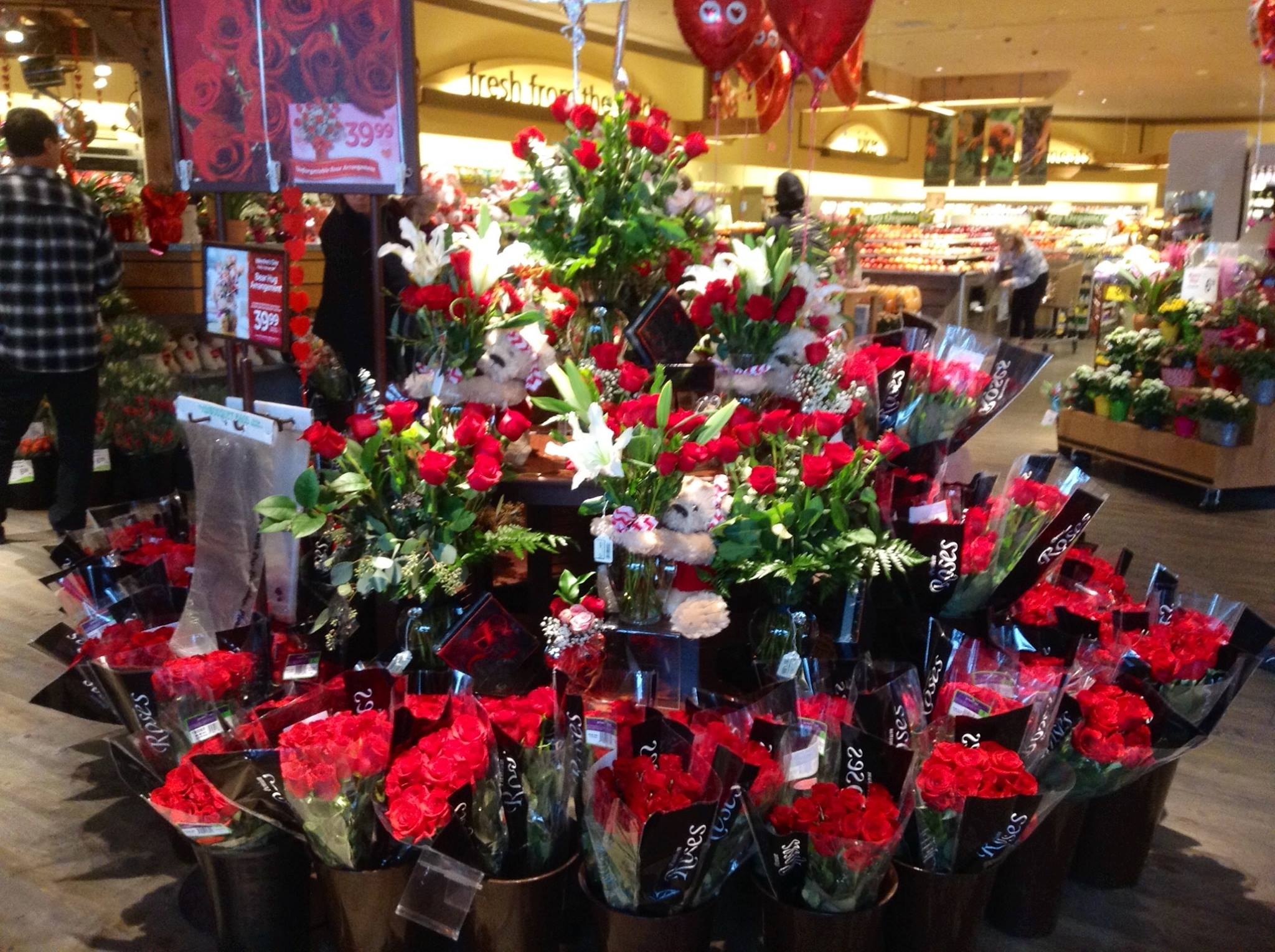Valentines day for a Safeway Floral Manager